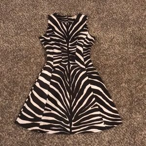 Michael Kors Synthetic Zebra Print FitNFlare Dress
